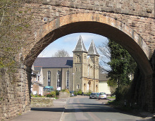 Coleford, Baptist Church through the old railway bridge, Gloucestershire © Pauline E